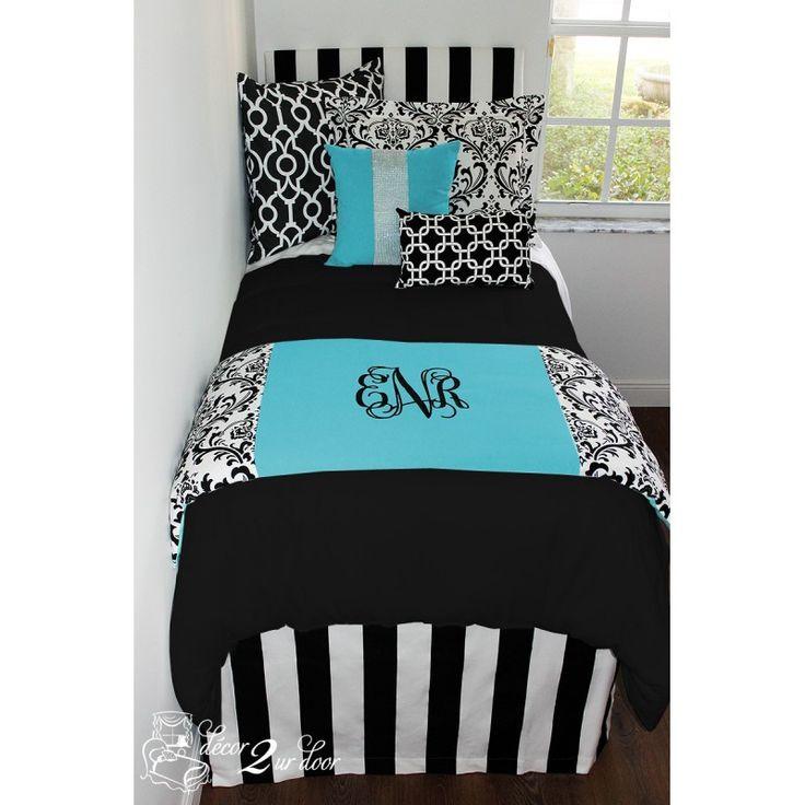 Tiffany Blue Designer Dorm Bedding Set