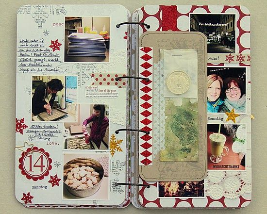 scrapperia: Journal This makes me eager for Christmas to be here! Maybe an advent calendar idea?