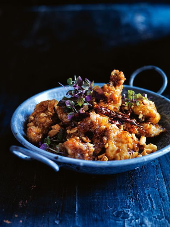 korean fried chicken with sweet chilli sauce from donna hay