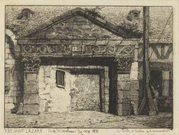 Rue Saint-Lazare | Porte du Château du Coq, 1831
