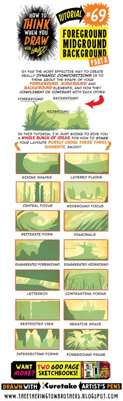 The Etherington Brothers: How to THINK when you draw FOREGROUND MIDGROUND BACKGROUND tutorial