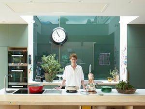 Anna Hansen in her self-designed kitchen.