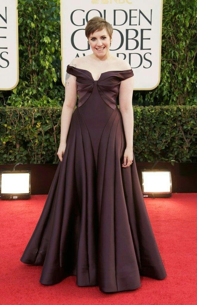 Lena Dunham Golden Globes 2013