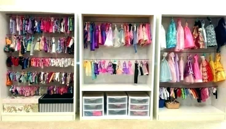 Doll Wardrobe Closet Design In 2020 Doll Storage Barbie Storage Toy Storage