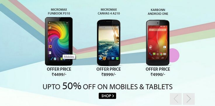 #snapdeal #snapdealoffers #Deals Best Deals On Latest #Mobiles & #Tablets #micromax #karbonn @ http://www.snapdeal.com/?utm_source=aff_prog&utm_campaign=afts&offer_id=16&aff_id=3880