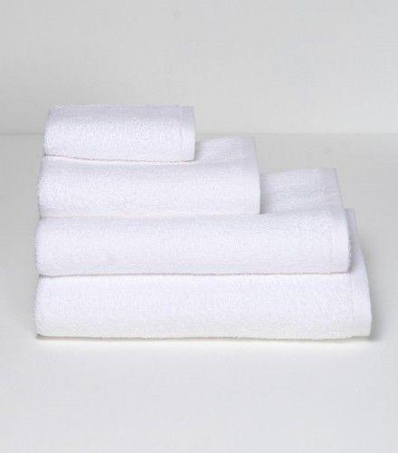 Βαμβακερή Λευκή Πετσέτα Antipaxos σε 2 Διαστάσεις - Πετσέτες Μπάνιου | Pennie®