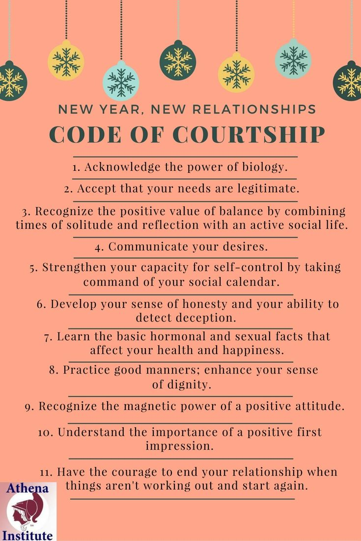 Follow the Code of Courtship during this new year to develop a happy, healthy relationship, https://athenainstitute.com/sfc/index.html #relationships #courtship
