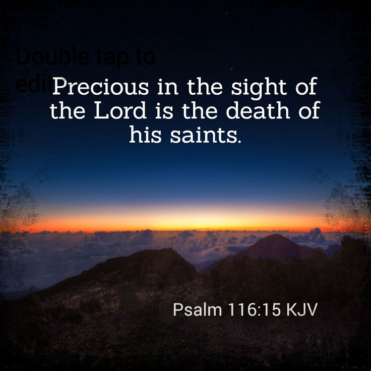 Psalm 116:15 KJV precious in the sight of the Lord was the death of my brother Chris. He will Forever be with his Heavenly Father.
