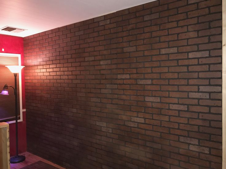 faux brick wall panels purchased at loweu0027s quickly transforms a room