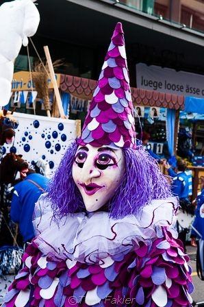 Blätzlibajass, just one of the traditional characters in Basel's dramatic carnival celebration.
