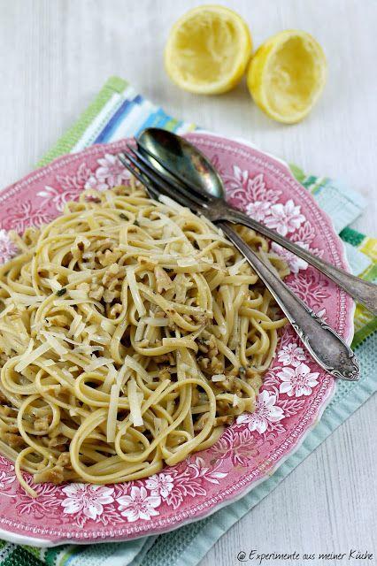 Experimente aus meiner Küche: Linguine mit Salbei-Walnuss-Butter