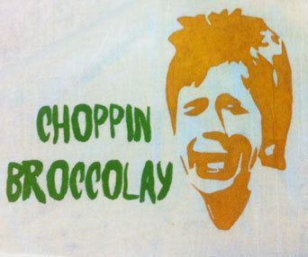 Choppin Broccolay Dana Carvey Flour Sack Dish Towel by 4thirteenpicks on Etsy https://www.etsy.com/listing/235689289/choppin-broccolay-dana-carvey-flour-sack