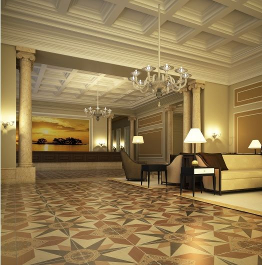 Pavimento Serie Medas #Catálogo 2015 para estancias de corte clásico y elegante Classical and smart livingroom by #ceranosa #ceramic #tiles #interiordesign #Catalogue2015