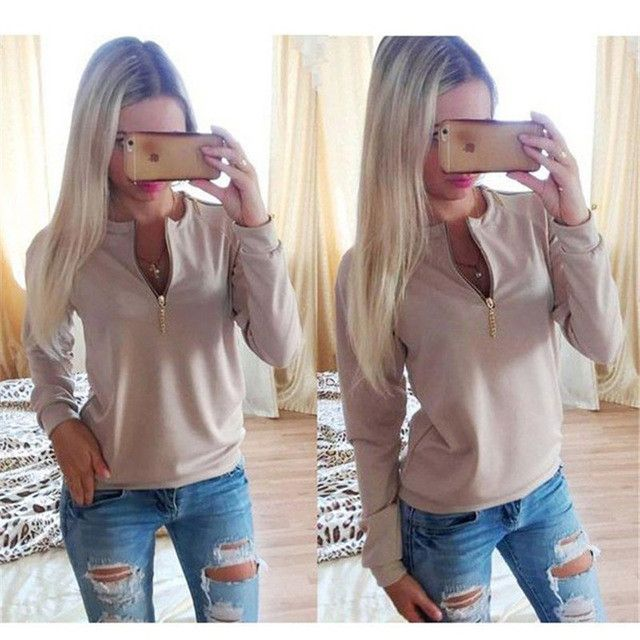 Autumn Winter Hoodies 2017 New Fashion Pink Women Sexy Long Sleeve Zipper Punk Female Sweatshirt Casual Hoodies Sudaderas Mujer
