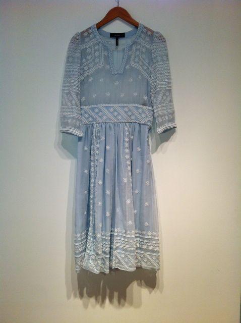 blue, sheer, polka dots, lacey, dress from: Isabel Marant - Ludivine dress