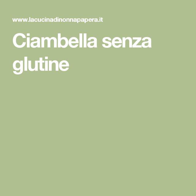 Ciambella senza glutine