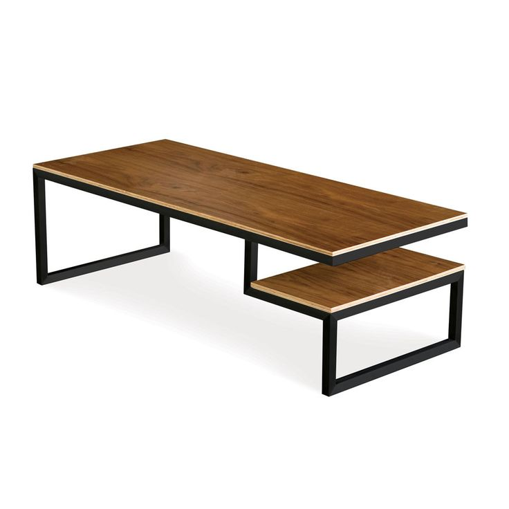 Gus modern ossington coffee table w48 xd20 xh15 black for Great rooms com