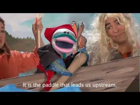Kids' CBC: L'Aviron  Traditional French Canadian song performed by puppets with English translation subtitles.