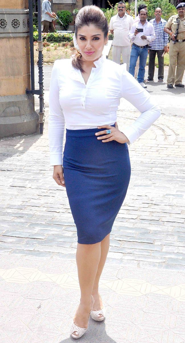 Raveena Tandon at helmet awareness event. #Bollywood #Fashion #Style #Beauty #Hot