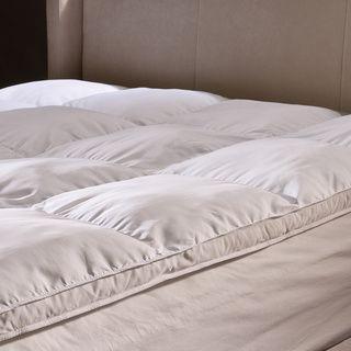 Damask Stripe Pillowtop 500 Thread Count Mattress Pad - Overstock Shopping - Great Deals on Mattress Pads