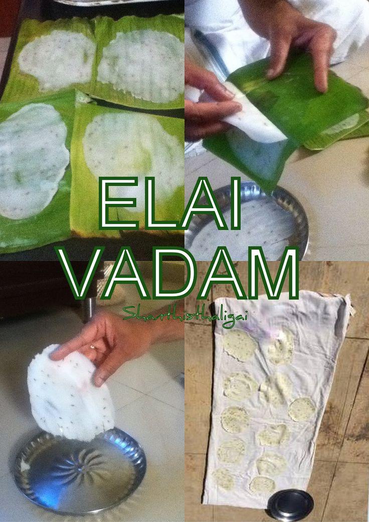 Elai vadam, How to make elai vadam, Elai vadam recipe
