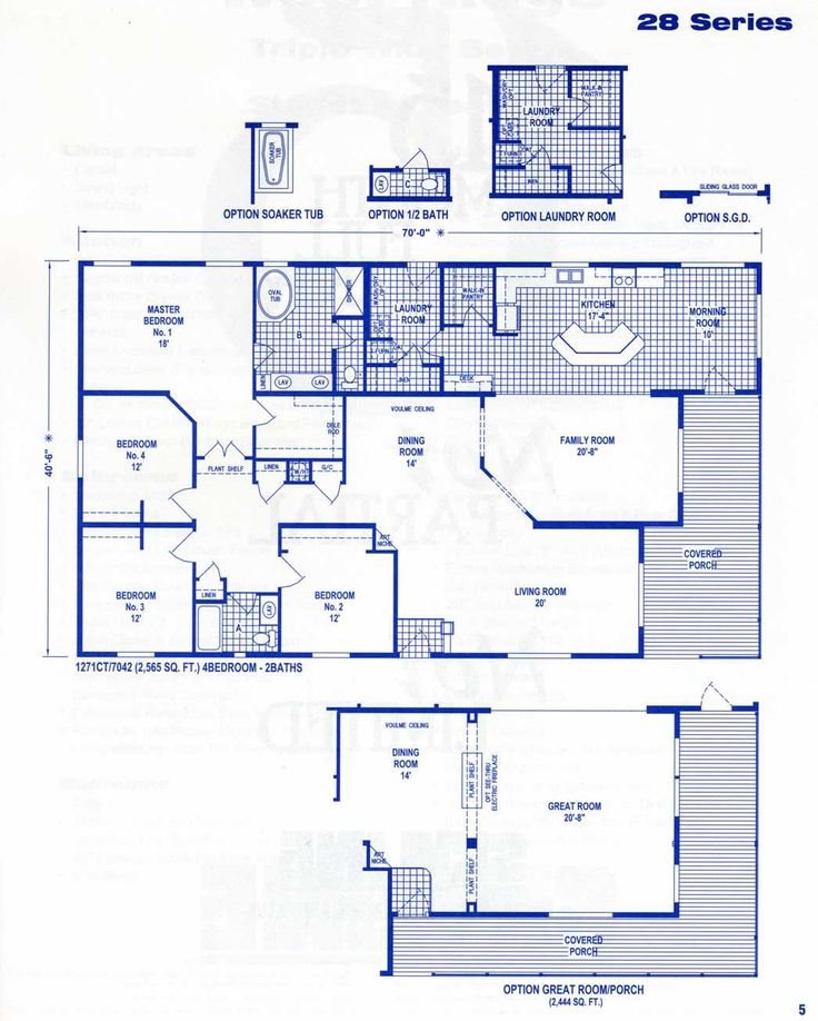 Fleetwood Mobile Home Floor Plans And Prices | Click Here For Series 28  2565 Sq.