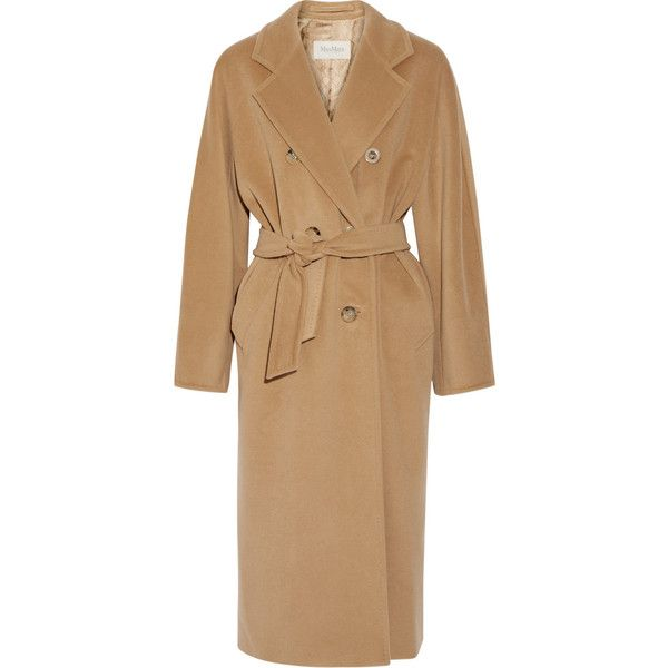 Max Mara Madame wool and cashmere-blend coat (54 030 UAH) ❤ liked on Polyvore featuring outerwear, coats, maxmara coat, double breasted camel coat, maxmara, cashmere blend coat and double breasted woolen coat