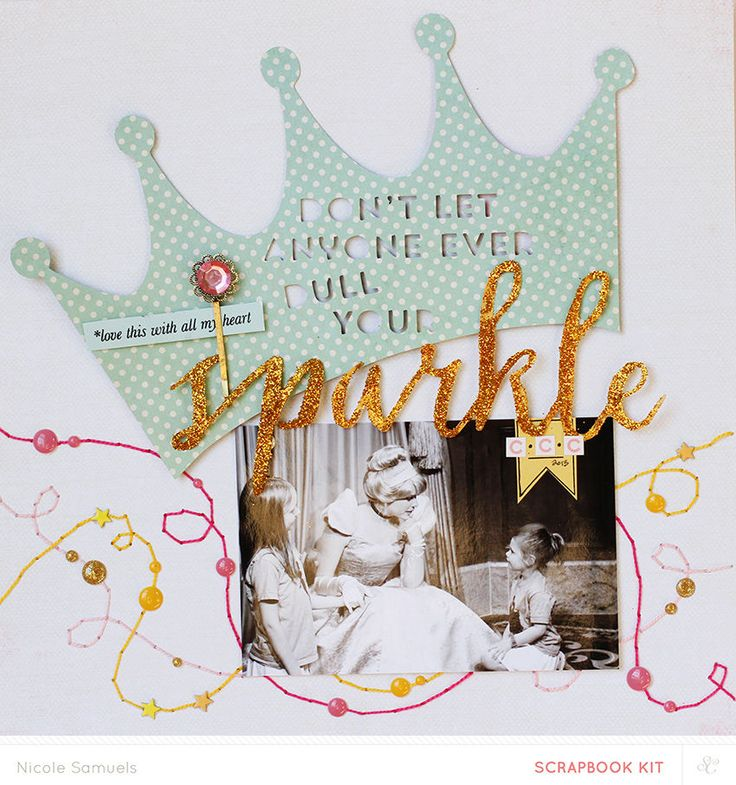 #papercraft #scrapbook #layout  Sparkle by Nicole Samuels at @Studio_Calico