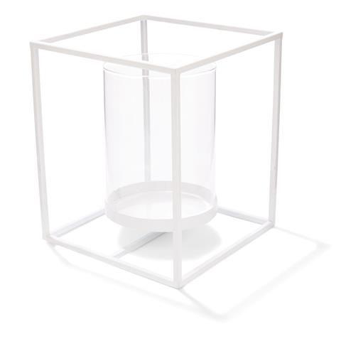metal Lantern 20cm White