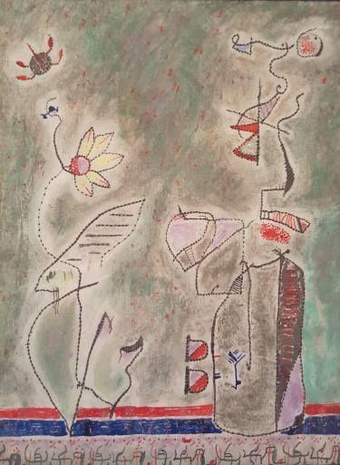 """Saatchi Art Artist Alexandru Ilea; Drawing, """"Admiring a flower"""" #art"""