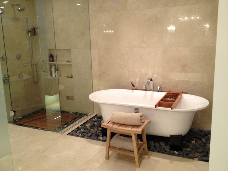 My new zen bathroom stones and shells bathroom for Zen bathroom ideas pinterest