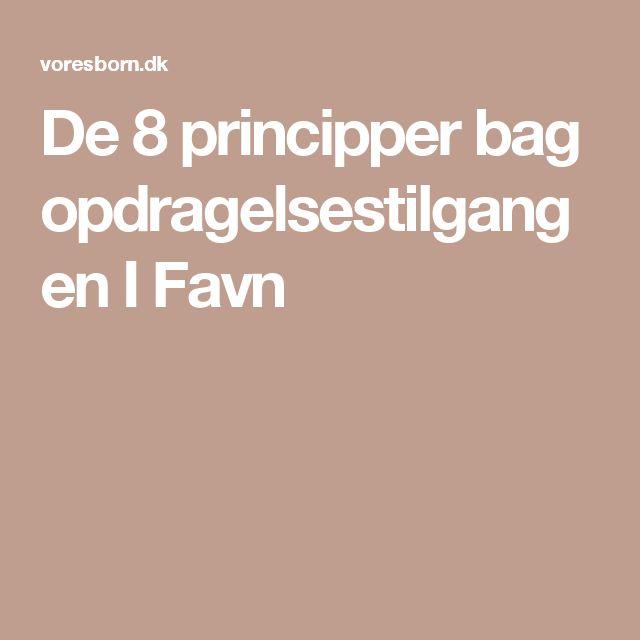 De 8 principper bag opdragelsestilgangen I Favn