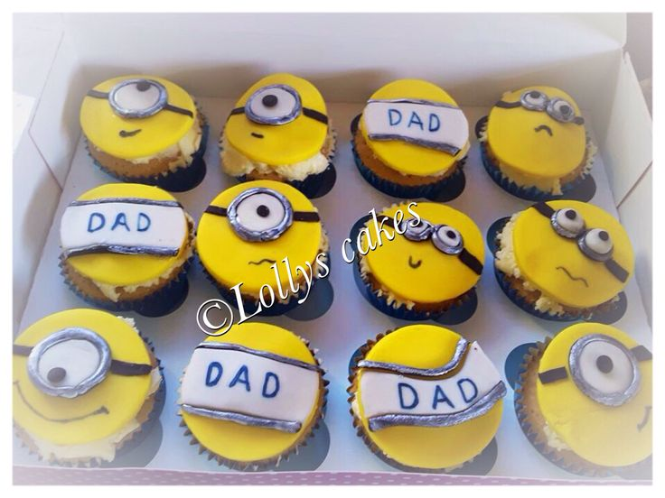 Minion cupcakes for Father's Day