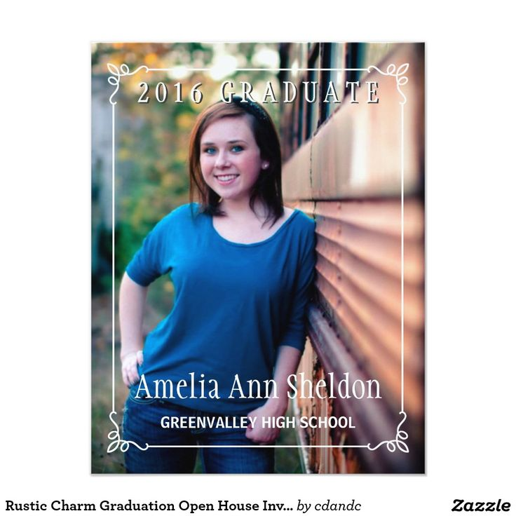sample open house graduation party invitations%0A Rustic Charm Graduation Open House Invite