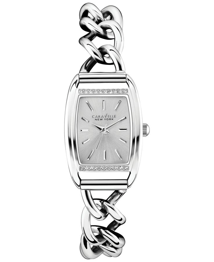 Caravelle New York by Bulova Women's Stainless Steel Link Bracelet Watch 20x16mm 43L169 - Women's Watches - Jewelry & Watches - Macy's