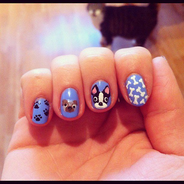 3 Ways to Celebrate National Dog Day With Nail Art - Best 25+ Dog Nail Art Ideas On Pinterest Dog Nails, Easy Nail