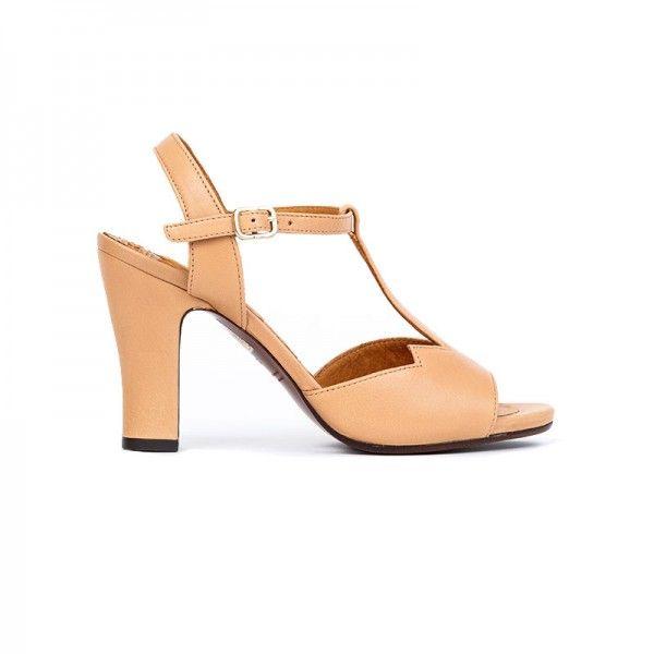 Chene by #ChieMihara #Sandal beige leather xigoros.com