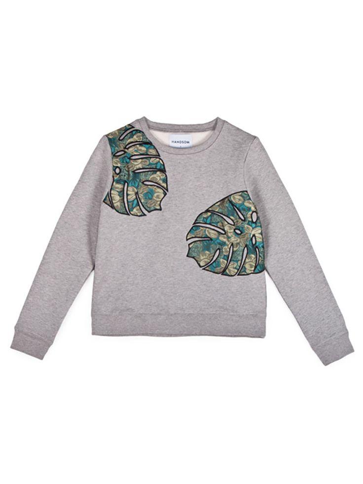 HANDSOM Big Leaf Sweat Top   Lo & Behold   Online Fashion