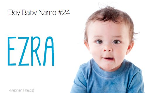 baby name: Ezra. yes i know i already have this pinned. just love this name so much! its in the bible and on pretty little liars. that was a bonus. (: