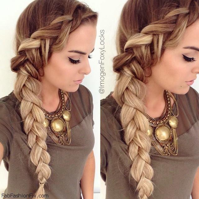 Beautiful Dutch braided hair inspiration. #braid #dutch #braided