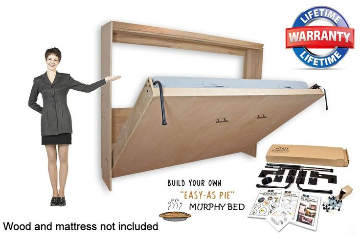 Murphy Wall Bed Horizontal Style Hardware Diy Kit For Queen Double And Twin