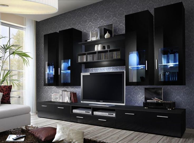 High Gloss TV Wall Unit