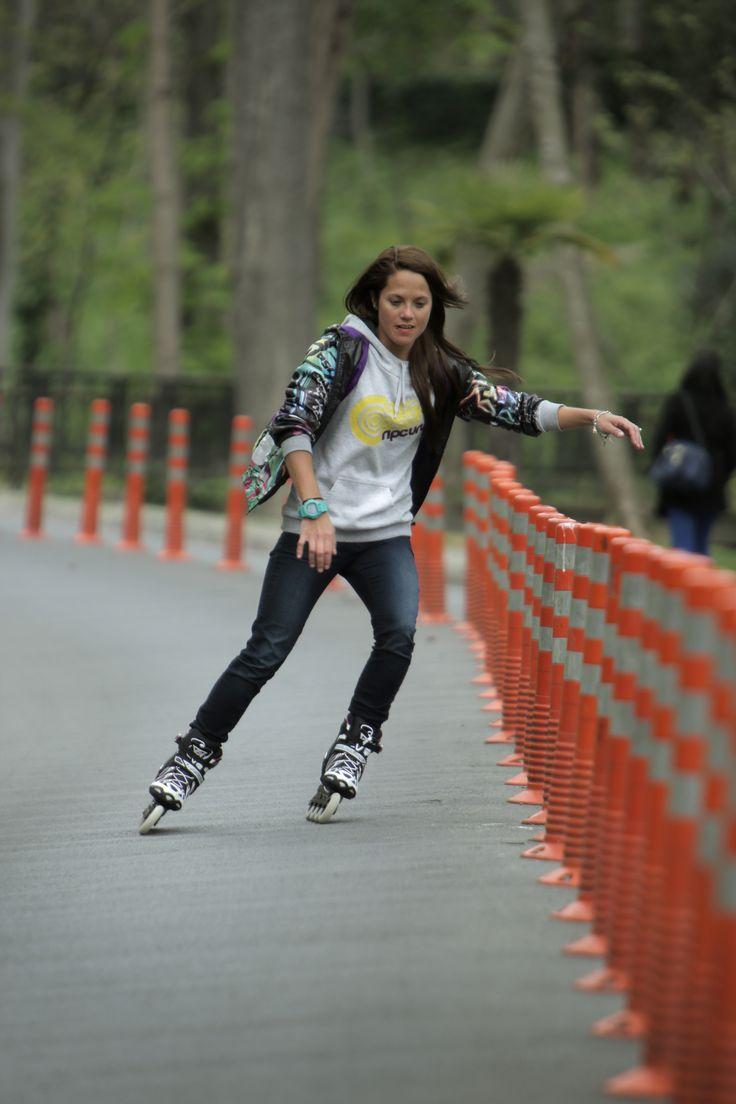 Zumiez roller skates - Sofia Carreras Rollerblade Italia 2015 Rollerblade Street Slalom