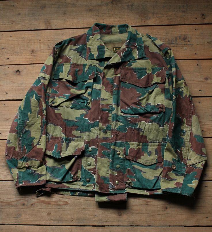 50's~ ベルギー軍 ミリタリージャケット ジグソーカモ | kapre online store