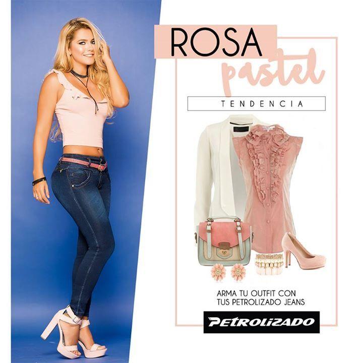 El color rosa resalta tu lado tierno y femenino. Puedes también complementar con unos tacones abiertos o sandalias del mismo color rosa. #Outfit #PetrolizadoJeans