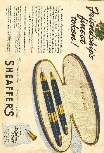 Sheaffer New Triumph Pens New Fineline Pencils Vintage Ad
