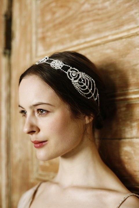 Jennifer Behr :: Cosmos Headwrap :: bridal :: Vintage Dress :: Photography by Belathée :: wedding :: headwrap :: bride :: crystal