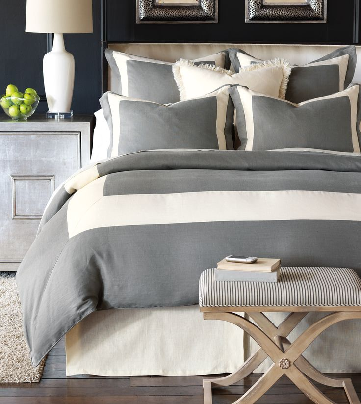Eastern Accents - Luxury Bedding Collections, Custom Bedding, Bed Linens - Breeze Mitered Linen Collection