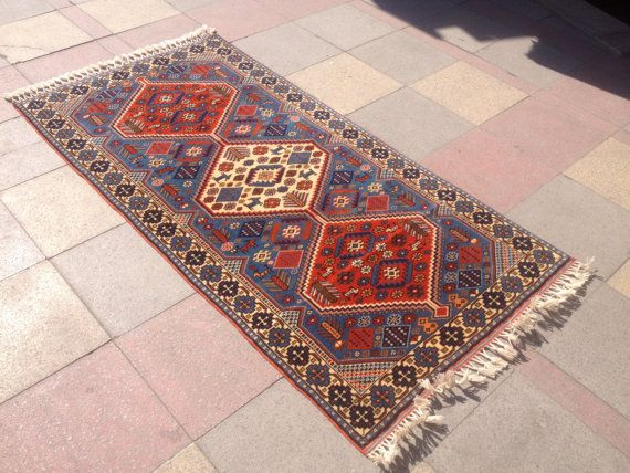 "Antique Caucasian kazak rug Shirwan Carpet Rug Anatolian Carpet Rug 40,1""x78,7"""