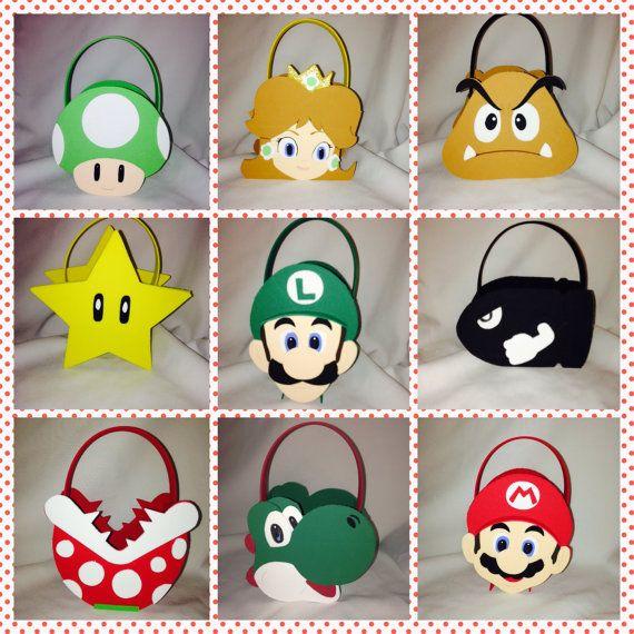 Super Mario Bros toad yoshi koopa star by titaspartycreations, $3.00
